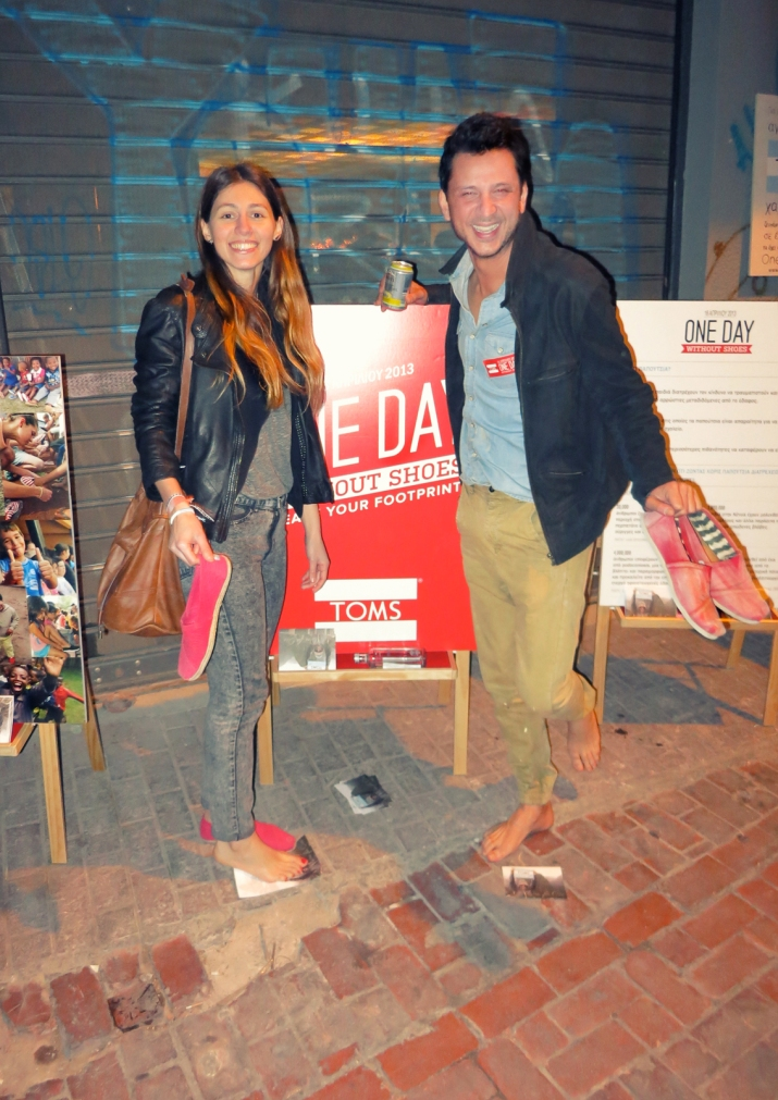 one day without shoes TOMS ATHENS