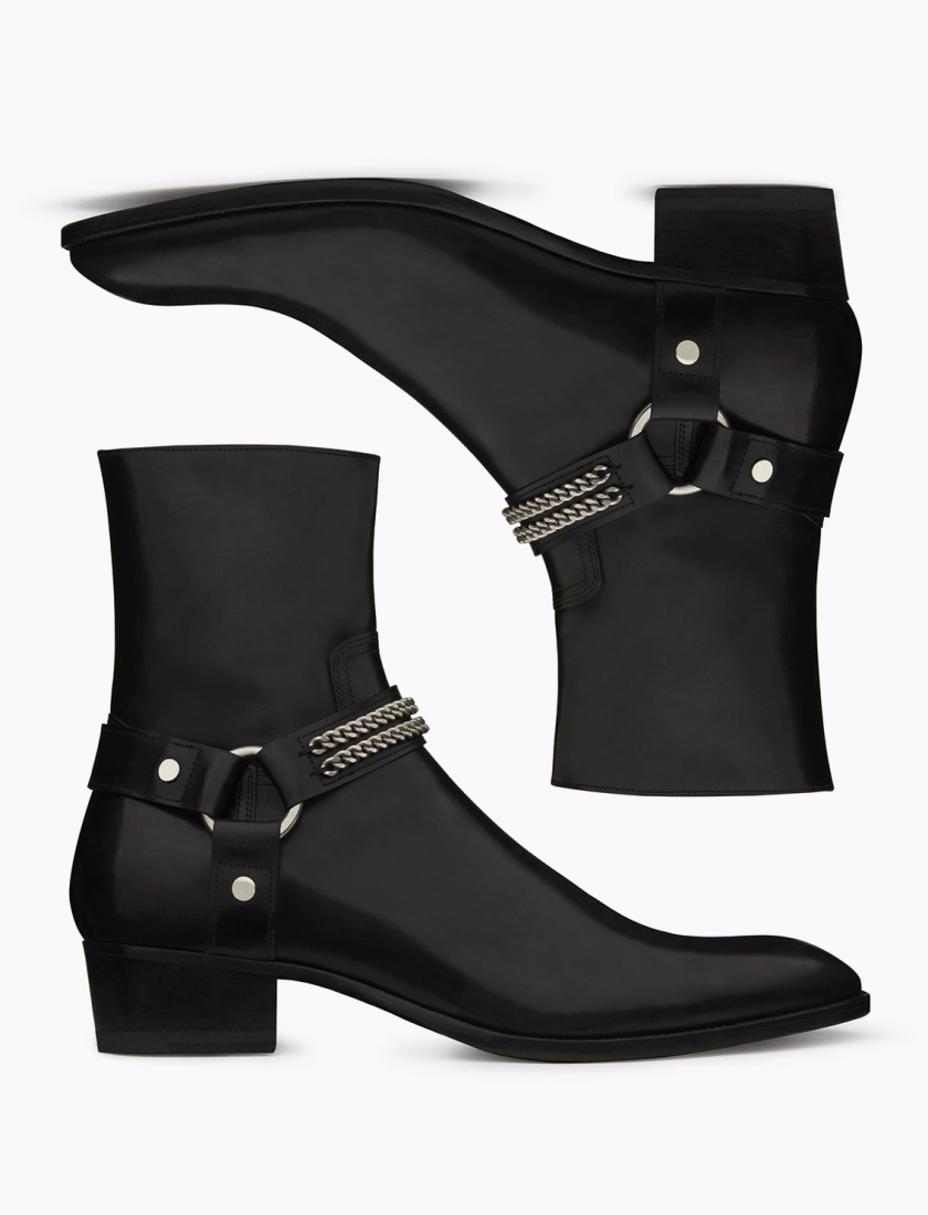 Saint_Laurent_Chain_Harness_Boots