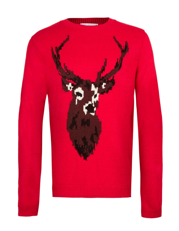 TOPMAN_RED_STAG_JUMPER