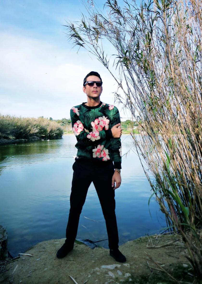 River Island floral jumper