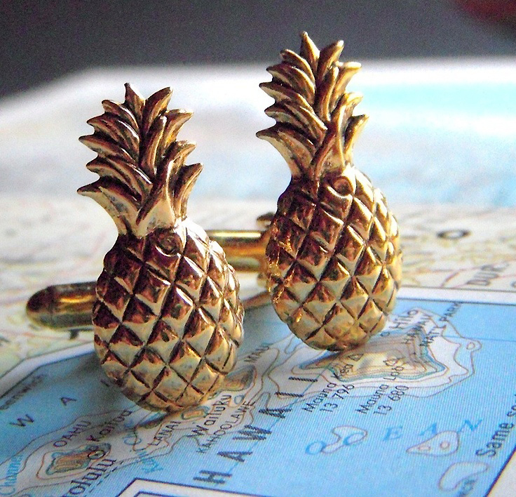 pineapple_cufflinks
