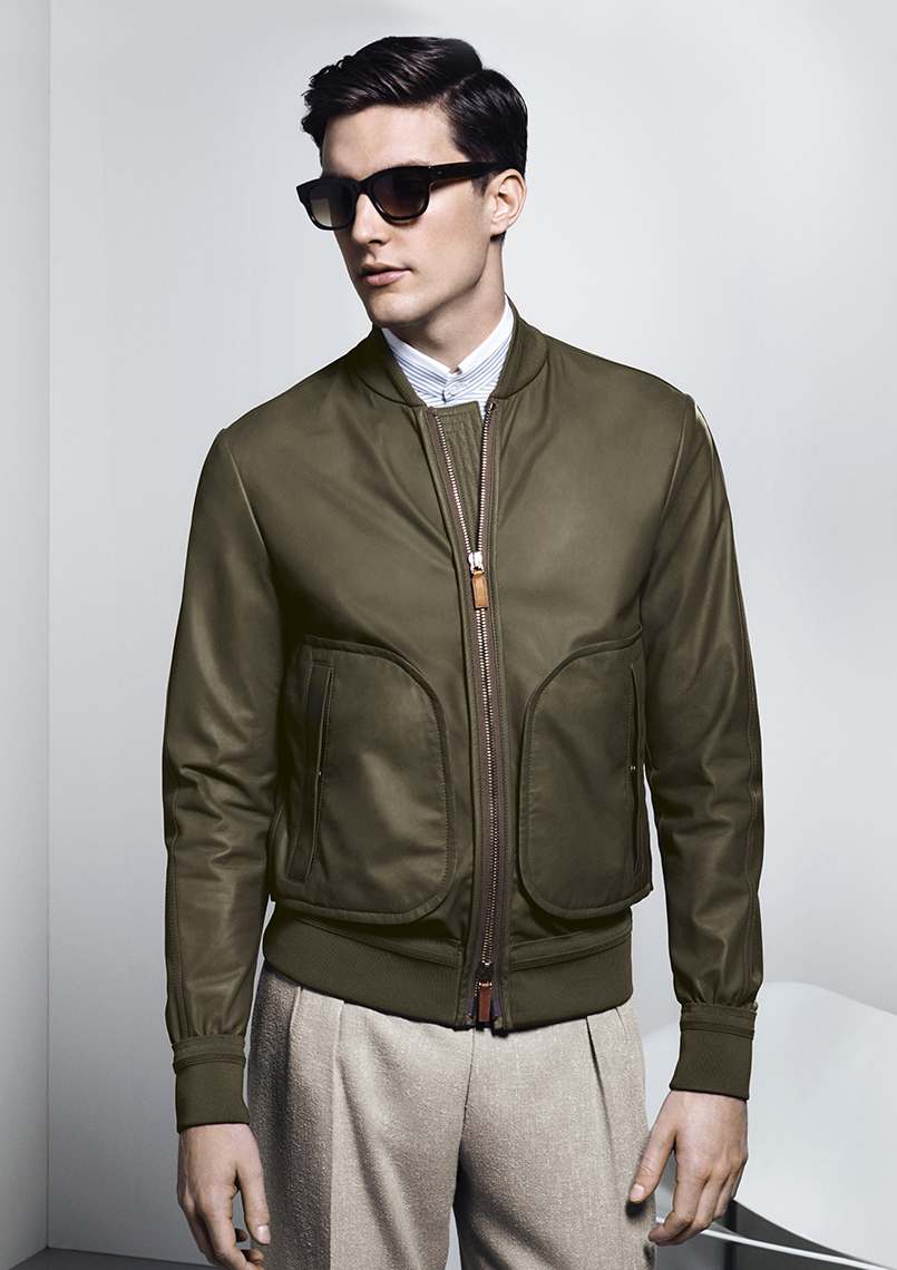 Canali-SS16-collection-dark-green-jacket